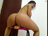 Big Ass Busty Latina Riding Dildo On Cam
