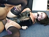 danish hottie anal sodomized with ballgag and latex