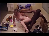 Hidden cam discovers cheating wife with a BBC (Camaster)
