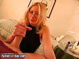 Handjob from slutty amateur blonde in hot handjob porn 3