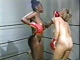 Retro Interracial Naked Boxing