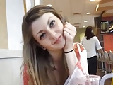 Beautiful Teen Horny At McDonalds