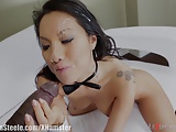 Asa Akira Fucked by 11 Inch Black Cock in Ass