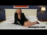 Big tits business milf taking cock
