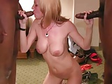 stunning white wife dances for two bbc for bareback creampie