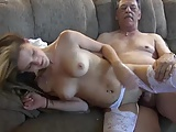 Horny old man fuck grandsons girlfriend