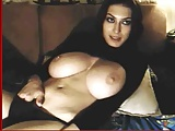 busty romanian brunette teasing on webcam