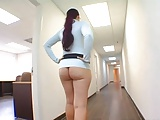 PAWG MILF Nerdy Secretary show her Office in Slut Thong