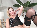 sexy milf in her first porno