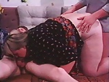 Large BBW Takes on Two Cocks