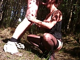 Dutch Milf in Belgium Forrest with hubby