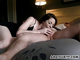 Hot amateur GF sucks and fucks with creampie cumshot
