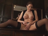 sexy office secretary Masturbation D10