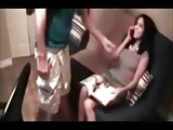 Amateur babe fucked while talking on the phone