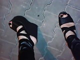 my high platform wedge sandals