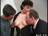 French milf gets double penetrated