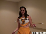 Mofos -Hot Cheerleader Holly shows her spirit