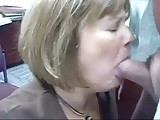 Mature Head #71 (Two vids of the Office Slut doing her Job)