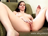 Young and sexy amateur Ally Evans shows hot masturbation