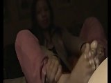 ria sweet homemade footjob 3