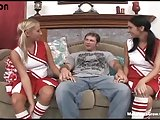 Hot cheerleaders share with one huge dick-1