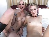 Tiny Titted Punk Girls FFM Threesome