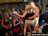 Ladies give bj get fingered at hot CFNM party