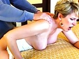 sexy mature fuck hard in doggystyle and get creampie