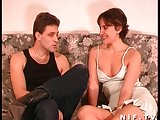 Hairy French brunette fucked and sodomized
