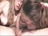 Lucky Guy Gets Deepthroated By His Wife And Not Her sister !