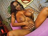 Big Ebony Tits Sucks White Dick
