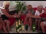4 Grannies and a Young Guy Suck Fuck and Cum