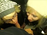 Double-POV (Two German Babes) Public MacDonalds Toilet