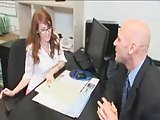 Sexy Redhead With Glasses And Hairy Pussy Gets Fucked Hard