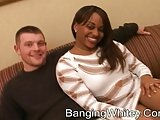 2 white dicks fucking 1 black whore with a sperm shower
