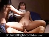 Silly girls fight and punish the thief with hard fuck